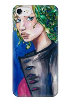 """Чехол для iPhone 7 глянцевый """"Медуза Горгона"""" - эксклюзивнаяграфика, женскийобраз, творчество, богиня, магия"""