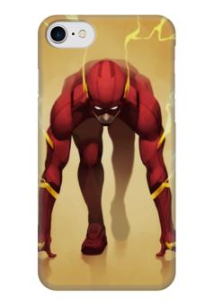 "Чехол для iPhone 7 глянцевый ""Флэш (Flash)"" - комиксы, dc comics, флэш, justice league, лига справедливости"