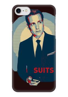 """Чехол для iPhone 7 глянцевый """"SUITS"""" - арт, сериал, suits, форс-мажоры, сьютс"""