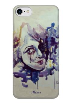 """Чехол для iPhone 7 глянцевый """"Акварель """" - любовь, арт, рисунок, грусть, печаль"""