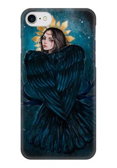 """Чехол для iPhone 7 глянцевый """"Сирин"""" - арт, девушка, птица, сирин, славянская мифология"""