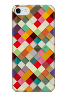 """Чехол для iPhone 7 глянцевый """"Африканский Узор - Самоцветы"""" - узор, мозаика, mosaic, самоцветы"""