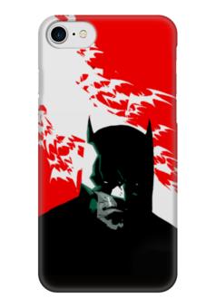 """Чехол для iPhone 7 глянцевый """"Batman"""" - comics, комиксы, batman, dc, бетмэн"""