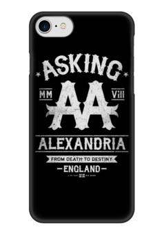 "Чехол для iPhone 7 глянцевый ""Asking Alexandria"" - asking alexandria, аскинг александриа, музыка, группы, рок"