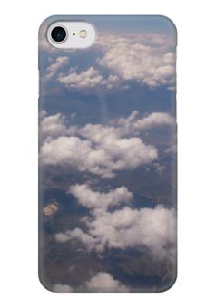 """Чехол для iPhone 7 глянцевый """"Облака"""" - облака, clouds"""