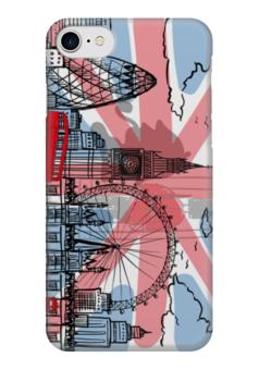 "Чехол для iPhone 7 глянцевый ""AnGet-ART"" - рисунок, лондон, британия, британский флаг, отруки"