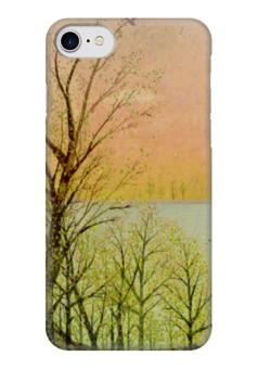 """Чехол для iPhone 7 глянцевый """"Природа"""" - настроение, деревья, небо, природа, закат"""