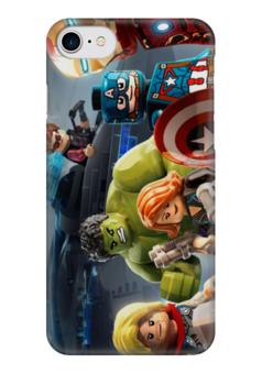 """Чехол для iPhone 7 глянцевый """"Мстители (Avengers)"""" - лего, lego"""
