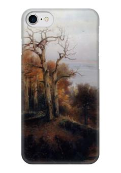 """Чехол для iPhone 7 глянцевый """"Осенний лес. Кунцево. (Проклятое место)"""" - картина, саврасов"""