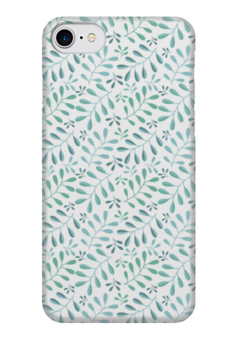 """Чехол для iPhone 7 глянцевый """"Растительный узор"""" - абстракция, растение, узор, орнамент"""