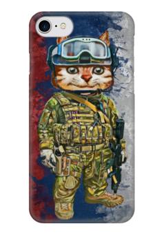 """Чехол для iPhone 7 глянцевый """"Вежливые Люди"""" - армия, россия, политика, крым, вежливые люди"""