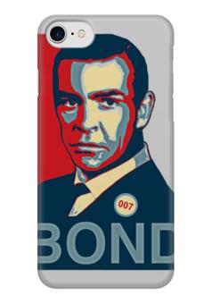 "Чехол для iPhone 7 глянцевый ""James Bond"" - james bond, агент 007, шон коннери, джеймс бонд, sean connery"
