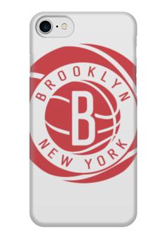 "Чехол для iPhone 7 глянцевый ""Brooklyn Nets"" - баскетбол, нба, brooklyn, бруклин нетс, brooklyn nets"