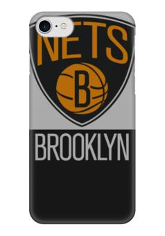 "Чехол для iPhone 7 глянцевый ""Brooklyn Nets"" - баскетбол, nba, нба, бруклин нетс, brooklyn nets"