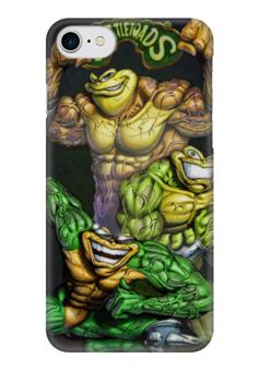 "Чехол для iPhone 7 глянцевый ""battletoads"" - игры, game, battletoads, боевые жабы"