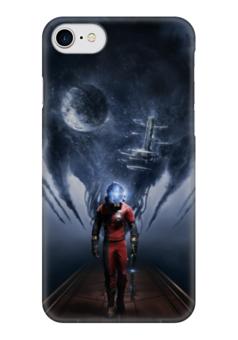 """Чехол для iPhone 7 глянцевый """"Prey game"""" - арт, prey, игры, видеоигры, космос"""