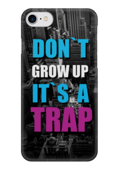 "Чехол для iPhone 7 глянцевый ""Крупный текст it is a Trap"" - текст, trap"