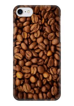 "Чехол для iPhone 7 глянцевый ""Кофе (Coffee)"" - кофе, coffee, зерна"