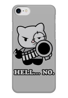 "Чехол для iPhone 7 глянцевый ""Bad Cat"" - кот, bad, hell, cat, плохой"