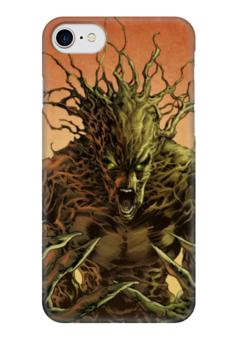 """Чехол для iPhone 7 глянцевый """"Грут (Groot)"""" - комиксы, марвел, стражи галактики, грут, guardians of the galaxy"""