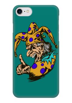 """Чехол для iPhone 7 глянцевый """"Джокер предупреждает"""" - joker, палец, джокер, желтый, шут"""