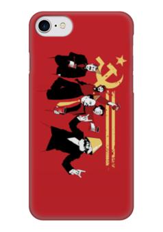 """Чехол для iPhone 7 глянцевый """"Коммунисты зажигают"""" - ссср, ленин, история, коммунисты"""