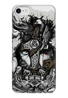 "Чехол для iPhone 7 глянцевый ""Викинги"" - викинги, vikings, путь воина, скандинавы"