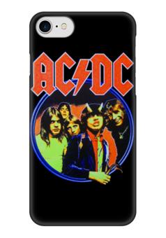 "Чехол для iPhone 7 глянцевый ""AC/DC "" - heavy metal, hard rock, ac-dc, хэви метал, эйси диси"