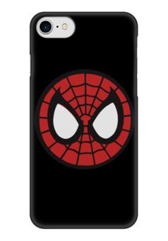 "Чехол для iPhone 7 глянцевый ""Spider-man / Человек-паук"" - человек-паук, spider-man, мультфильм, комиксы, фильм"