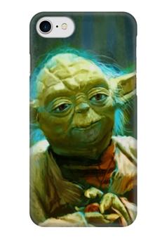 """Чехол для iPhone 7 глянцевый """"Йода (Yoda)"""" - star wars, звездные войны, стар варс, мастер йода"""
