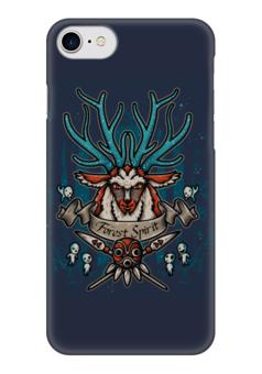 """Чехол для iPhone 7 глянцевый """"Forest Spirit. Лесной Дух"""" - рисунок, олень, фэнтэзи, лесной дух"""