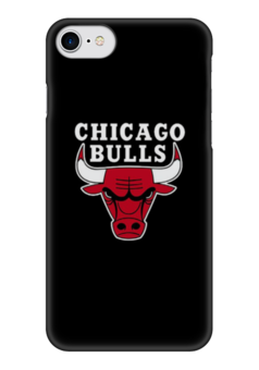 "Чехол для iPhone 7 глянцевый ""CHICAGO BULLS"" - баскетбол, nba, chicago bulls, чикакго булс"