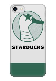 "Чехол для iPhone 7 глянцевый ""Starducks Starbucks Case "" - duck, coffee, starbucks, parody, star ducks"