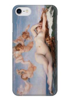 """Чехол для iPhone 7 глянцевый """"Рождение Венеры (картина Кабанеля)"""" - картина, кабанель"""