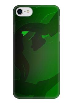 """Чехол для iPhone 7 глянцевый """"Зеленые поля"""" - арт, абстракция, трава, поле, лужайка"""