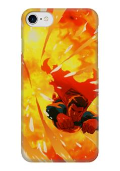 "Чехол для iPhone 7 глянцевый ""Супермен (Superman)"" - комиксы, superman, супермэн, dc, dc comics"
