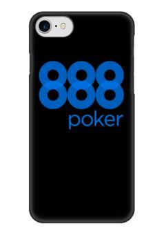 "Чехол для iPhone 7 глянцевый ""888 poker"" - покер, казино"