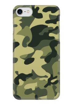 """Чехол для iPhone 7 глянцевый """"камуфляж"""" - 23 февраля, камуфляж, camo"""