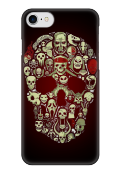 "Чехол для iPhone 7 глянцевый ""Skull Art"" - skull, череп, арт, черепа, skulls"