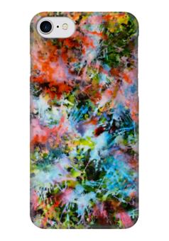 """Чехол для iPhone 7 глянцевый """"Взрыв красок"""" - арт, радуга, ярко, красочно, сочно"""