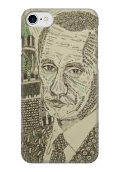 """Чехол для iPhone 7 глянцевый """"Путин - Доллар"""" - россия, политика, путин, доллар, рубль"""