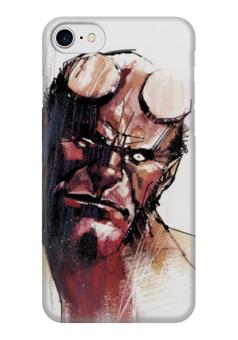 """Чехол для iPhone 7 глянцевый """"Хеллбой"""" - комиксы, демон, хеллбой, dark horse comics, hellboy"""