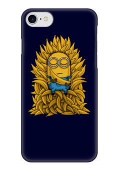 """Чехол для iPhone 7 глянцевый """"Миньоны. Банана Трон"""" - banana, миньоны, игра престолов, game of thrones, minions"""