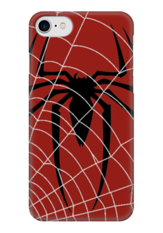 "Чехол для iPhone 7 глянцевый ""SPIDERCASE"" - комикс, супергерой, spider man, паук, человекпаук"