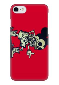 "Чехол для iPhone 7 глянцевый ""микки маус"" - скелет, микки маус, микки, mickey mouse"