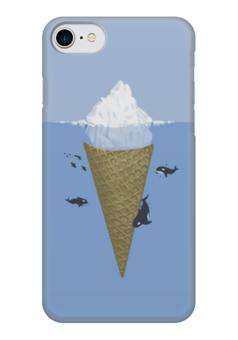 "Чехол для iPhone 7 глянцевый ""Айсберг "" - океан, ice cream, мороженное, айсберг, киты"