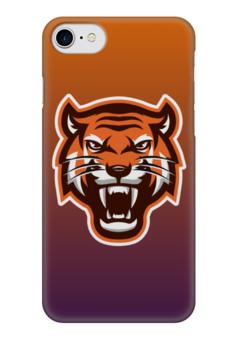 """Чехол для iPhone 7 глянцевый """"Тайгер"""" - кот, животные, природа, тигр"""