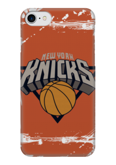 "Чехол для iPhone 7 глянцевый ""New York Knicks"" - баскетбол, nba, нба, new york knicks, нью-йорк никс"