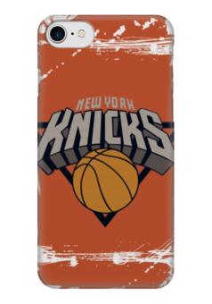 "Чехол для iPhone 7 глянцевый ""New York Knicks"" - баскетбол, nba, нба, new york knicks, нью-йорк никс"