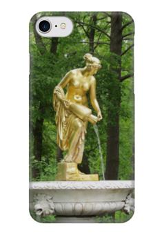 """Чехол для iPhone 7 глянцевый """"Нимфа"""" - россия, парк, скульптура, нимфа, петергоф"""
